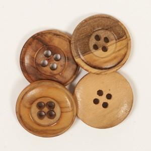 Holzknopf Zedernholz 15mm