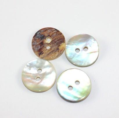 Perlmutt Knopf weiß 15 mm