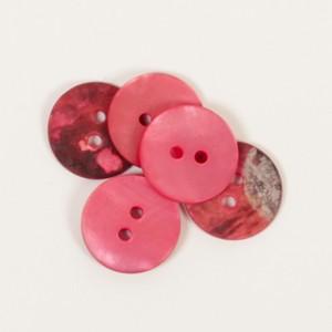 Perlmuttknopf rot 605