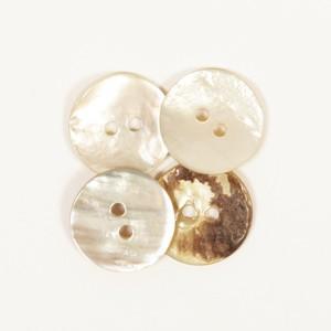 Perlmuttknopf 20 mm weiß