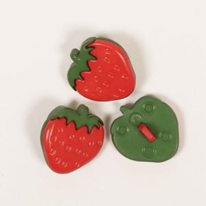 Knopf Erdbeere 16 mm